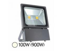 Projecteur Led 100W (900W) IP65 Finition gris Blanc jour 4000°K - VISION-EL