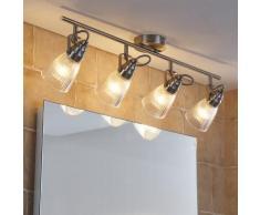 Plafonnier LED Kara 4 lampes LED plafonnier de salle de bain G9 - LAMPENWELT