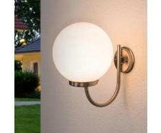 Applique d'extérieur Juella sphère matériau synthétique blanc lampe décorative - LAMPENWELT