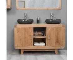Meuble de salle de bain en teck rétro 120cm - WANDA-COLLECTION