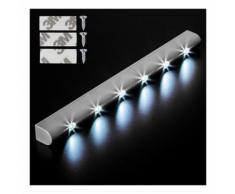 Lot de 4 Lampes led réglette lumineuse luminaire avec capteur de mouvement 6 leds - HELLOSHOP26