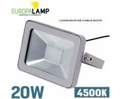 Projecteur LED 20 Watts Classic 4500K - EUROPALAMP