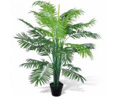 vidaXL Palmier Artificiel Plastique avec Pot 130 cm