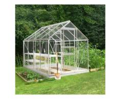 Serre de jardin 5m² en aluminium et verre horticole Popular - Halls