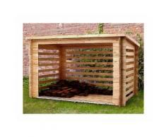 Abri en bois bûcher - 28 mm - 7,6m² - CHALET & JARDIN
