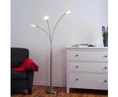Lampadaire LED Sirina lampadaire lampe coudée salon trois ampoules - LAMPENWELT