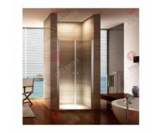 Porte de douche hauteur 195 cm - largeur réglable 76-80 cm Transparent - MONMOBILIERDESIGN