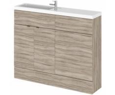 Meuble-lavabo wengé 110 x 86.4 x 25.5cm - HUDSON REED