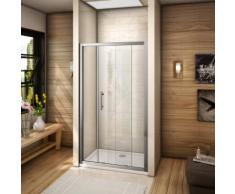 110x185cm porte de coulissante porte de douche verre securit pas de receveur - AICA SANITAIRE