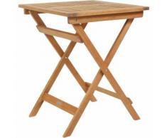 Bentley - Table carrée pour patio et jardin - bois dur certifié FSC - pliable - CHARLES BENTLEY