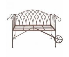 Banc de jardin brouette en métal - ESSCHERT DESIGN