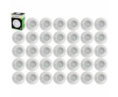 Lot de 35 Spot Led Encastrable Complete Blanc Orientable lumière Blanc Neutre eq. 50W ref.888