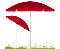 Parasol Rouge inclinable - Hauteur réglable - 200 cm- Jardin/plage/terrasse - DEUBA