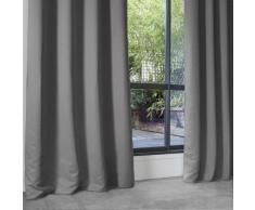 Rideau Occultant Uni en Polyester Gris 140 x 260 cm - HOMEMAISON
