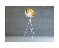 Lampadaire design - luminaire - lampe de salon - blanc - Thames - BELIANI
