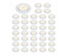 LOT DE 40 SPOT LED ENCASTRABLE COMPLETE RONDE FIXE eq. 50W BLANC FROID 6000K - EUROBRYTE