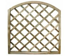 Treillis arc en bois matériau traité mobilier jardin 180x180cm 02309 - BRICOBRAVO