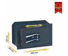 Coffre fort à emmurer à clef combinaison trois cadrans série 240TK stark 245PTK 490x320x240mm