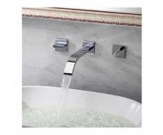 Mitigeur de lavabo à fixation murale, style contemporain - LOOKSHOP