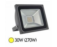 Projecteur ext LED 30W (270W) IP65 Blanc chaud 3000°K - VISION-EL