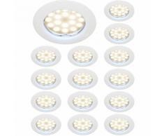 LOT DE 15 SPOT LED ENCASTRABLE COMPLETE RONDE FIXE eq. 50W BLANC CHAUD 3000K - LAMPESECOENERGIE