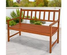 "Banc de jardin terrasse balcon en bois massif 120cm ""Kensington"" - DEUBA"