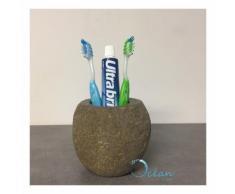 Porte-brosse à dents en pierre de rivière - Galéo - OCEAN LINE