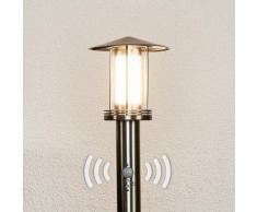 Borne lumineuse LED Swantje détecteur de mouvement lampe d'extérieur inox LED - LAMPENWELT