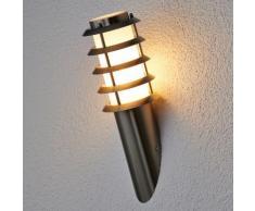 Applique d'extérieur Selina cadre ajouré inox applique d'extérieur dehors - LAMPENWELT