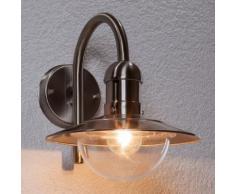 Applique d'extérieur Damion moderne inox polycarbonate IP44 - LAMPENWELT