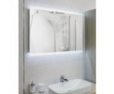 Miroir de salle de bain avec éclairage LED - Modèle ARIDIF -60 cm x 80 cm (HxL) - GLASSOLUTIONS