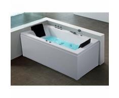 Baignoire d'angle rectangulaire - baignoire balnéo / whirlpool - hydromassage & chromothérapie -
