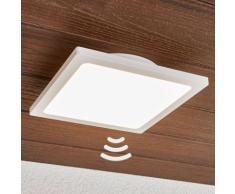 Plafonnier LED Mabella détecteur de mouvement extérieur blanc applique LED - LAMPENWELT
