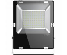 LED Projecteur Lampe 50W IP67 Extra Plat Blanc Froid - LAMPESECOENERGIE