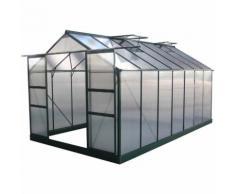 "Serre jardin polycarbonate ""Dahlia"" Vert Sapin 13,29 m² - HABITAT ET JARDIN"
