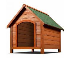 Niche pour chiens avec toit incliné et renforcé - Abri pour chien en bois 82cm - DEUBA