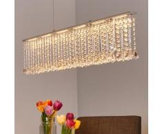 Suspension à poutres LED Jemaine lampe suspendue cristal étincelant LED - LAMPENWELT