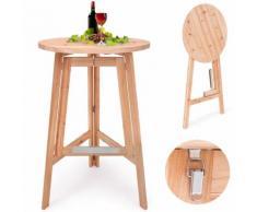 Table haute table bar massive en bois - Pliable - DEUBA