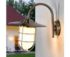 Applique d'extérieur Jason applique d'extérieur applique inox verre lanterne - LAMPENWELT