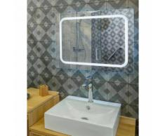 Miroir de salle de bain avec éclairage LED - Modèle AGENA -80 cm x 60 cm (HxL) - GLASSOLUTIONS