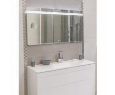 Miroir de salle de bain avec éclairage LED - Modèle SPIKA -65 cm x 120 cm (HxL) - GLASSOLUTIONS