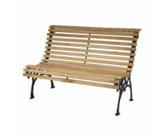 Banc de jardin en bois et fonte 122cm - DéCOSHOP26