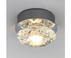 Plafonnier LED Marielle salle de bains IP44 applique verre poli LED - LAMPENWELT