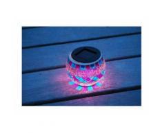 Lanterne solaire décorative, verre effet mosaique - GALIX