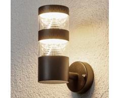 Applique d'extérieur LED Lanea noire lampe d'ext. LED applique moderne - LAMPENWELT
