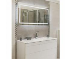 Miroir de salle de bain avec éclairage LED - Modèle ASTEROPA -65 cm x 120 cm (HxL) - GLASSOLUTIONS
