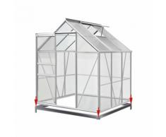 Serre de jardin 5,85m³ - 1 fenêtre et fondation en acier - DEUBA