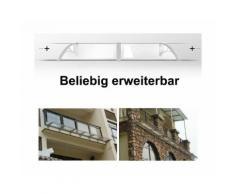 Songmics 275 x 90 cm Auvent de porte entrée marquise porte terrasse toit transparent GVH279