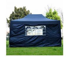 Tonnelle tente de reception pliante pavillon chapiteau barnum 3x4,5m bleu 70b - HOMCOM