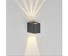 Applique d'extérieur Karsten Applique d'extérieur LED Gris graphite - LAMPENWELT